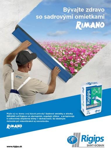 Sadrové stierky a omietky RIMANO a RIMAT a ich výhody