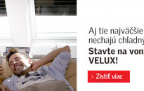Solárna roleta VELUX zabezpečí príjemný chládok