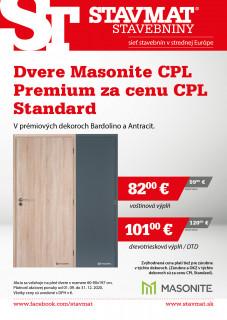 Dvere Masonite CPL Premium za cenu CPL Standard