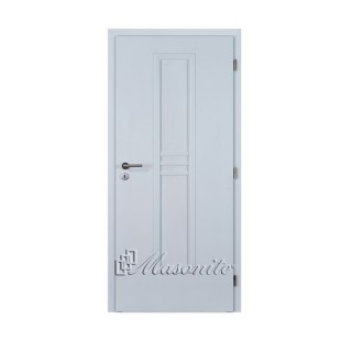 Dvere 3D biely pór STRIPE plné DTD 60 cm ľavé