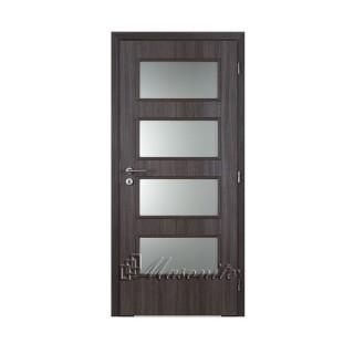 Dvere 3D Malaga Dominant pieskované DTD 60 cm pravé