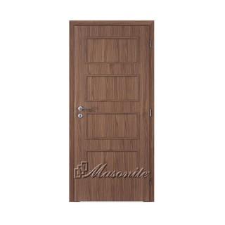 Dvere DOMINANT ORECH plné DTD 70 cm pravé