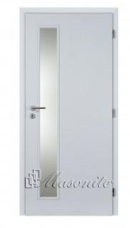 Dvere VERTIKA sklo pieskované DTD 80 pravé