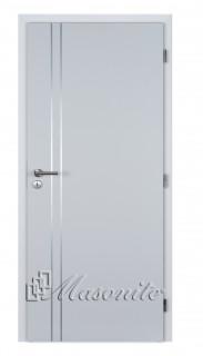Dvere ALU II bezfalcové lamino biele plné DTD 80 ľavé