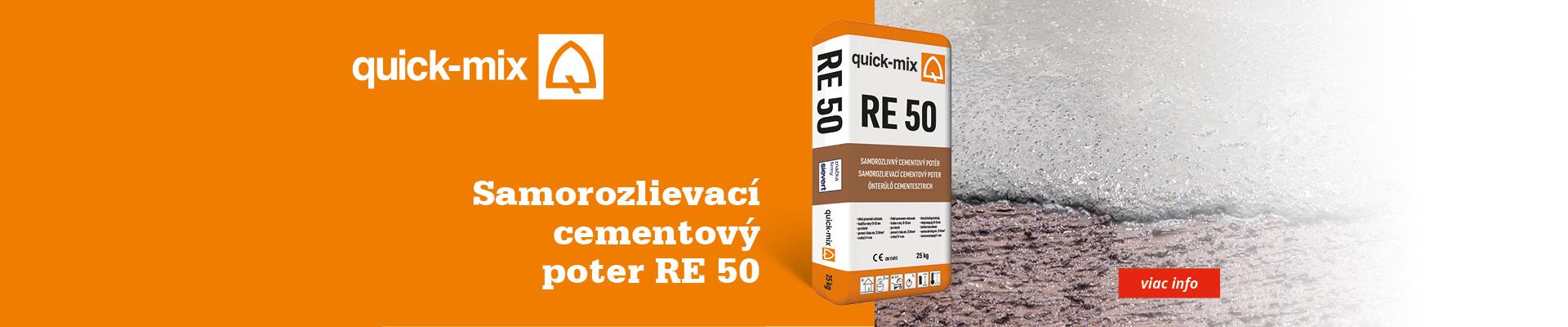 Samorozlievací cementový poter RE 50